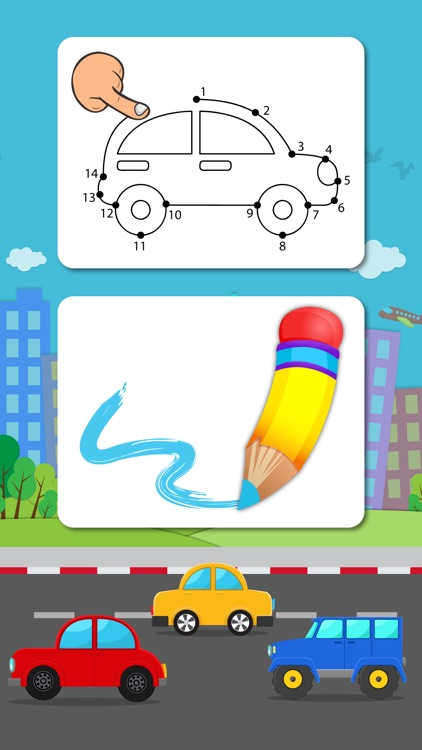 Cars Connect the Dots and Coloring Book - Toddler's Favorite Dot to Dot Game for Kids