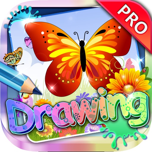 Drawing Desk Butterflies : Draw and Paint Coloring Books Edition Pro