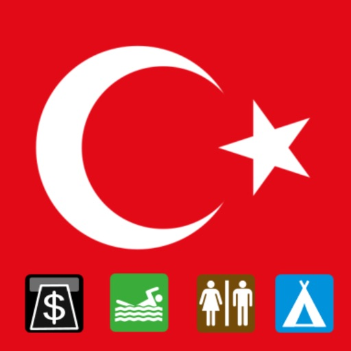 Leisuremap Turkey, Camping, Golf, Swimming, Car parks, and more