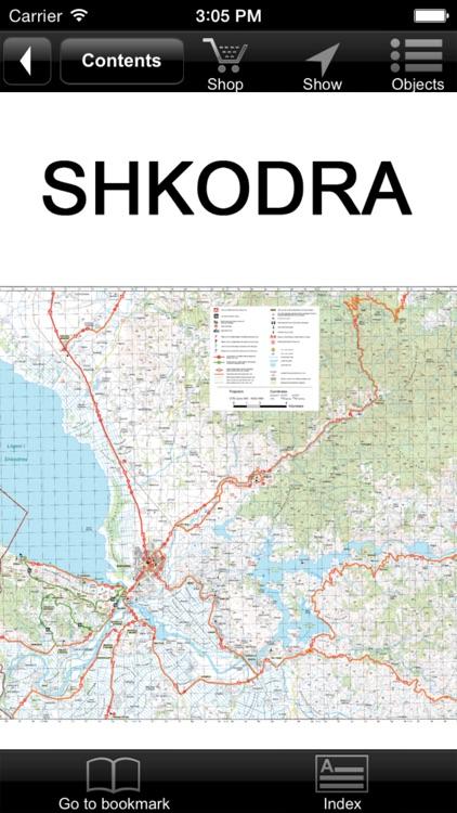 Shkodra. Tourist map.