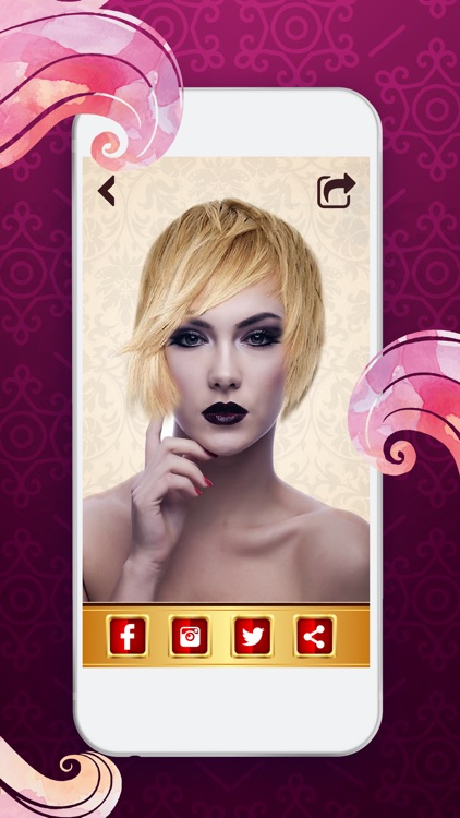 Hair Color Photo Changer – Beauty Picture Booth with Effects for an Instant Haircut Makeover screenshot-4