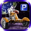 3D Moon Base Parking - Realistic Lunar Rover Space Simulator Games