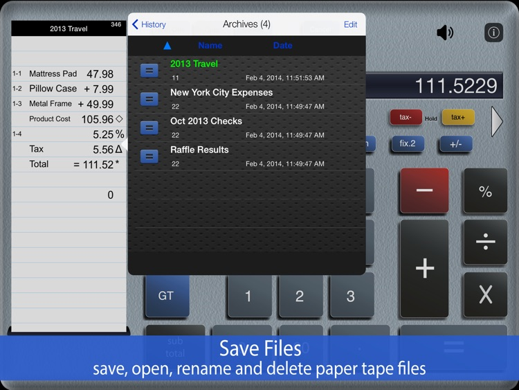 Accountant  Lite Calc iPad screenshot-3