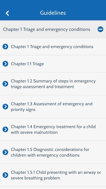WHO e-Pocketbook of Hospital Care for Children screenshot-2