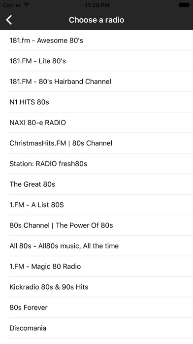 Screenshot 7 For 80s Music Songs Internet Online Radio Stations