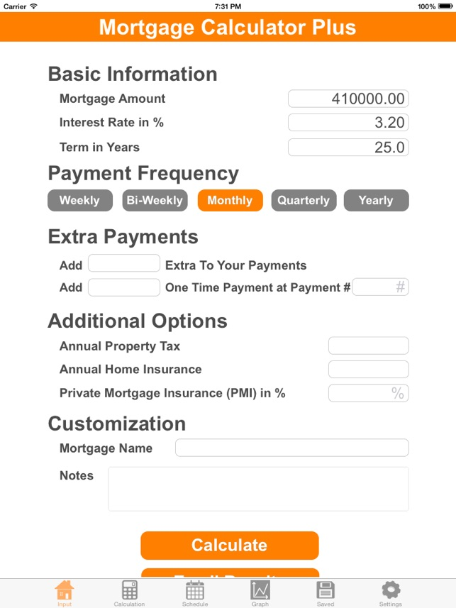 mortgage calculator with additional payment