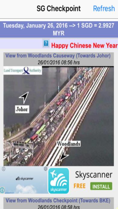 Singapore Checkpoint Traffic screenshot one