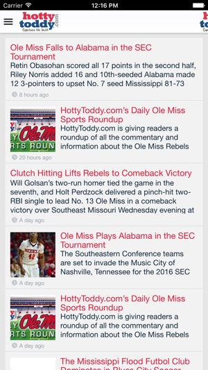 HottyToddy com on the App Store