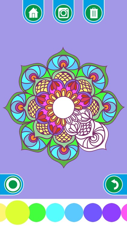 Coloring Books for adults - Mandala , ornament , anti-stress , art therapy screenshot-4