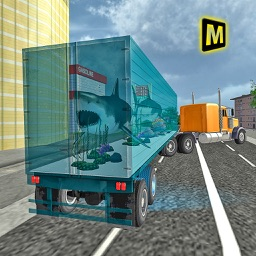 Transport Truck Sea Animals 3D