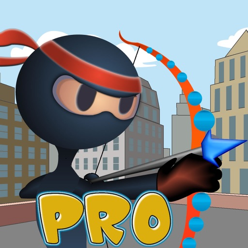 An Archer Ninja Stick PRO - Bow And Arrow target practice Game
