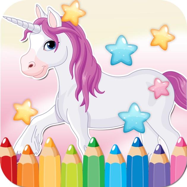 Pequeño Libro Para Colorear Dibujo De Unicornio - páginas ...