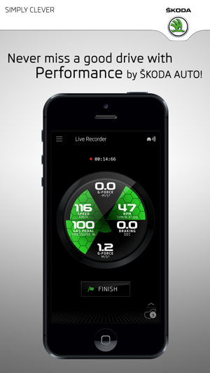 ŠKODA Performance Screenshot