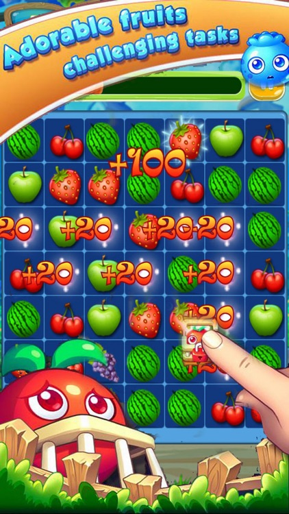 Happy Fruit Splash - Garden Match-3