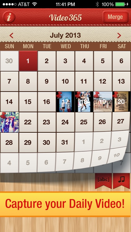 Video 365 Photo Journal daily picture diary calendar