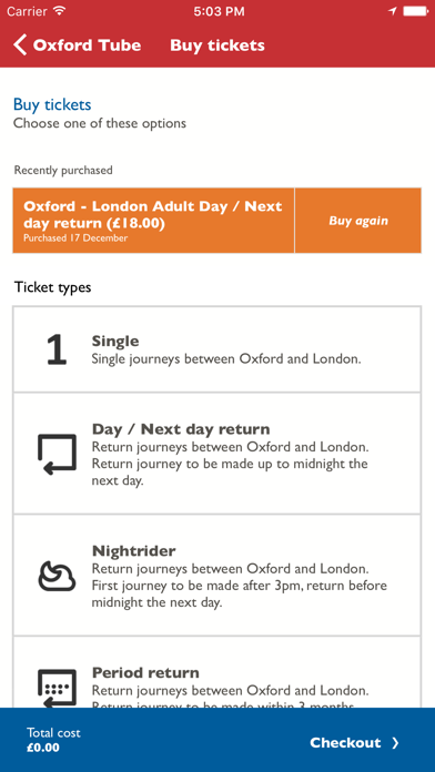 Oxford Tube Mobile Ticket screenshot two