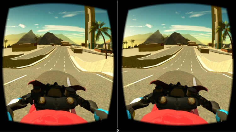 VR Motorbike Simulator : VR Game for Google Cardboard screenshot-3