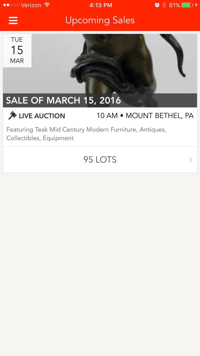 Teel Auctions Online Bidding Screenshot