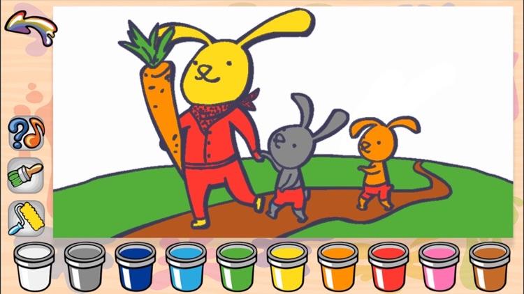 Wielkanocna Wesola Kolorowanka Gra Dla Dzieci Krolik Pisanki I