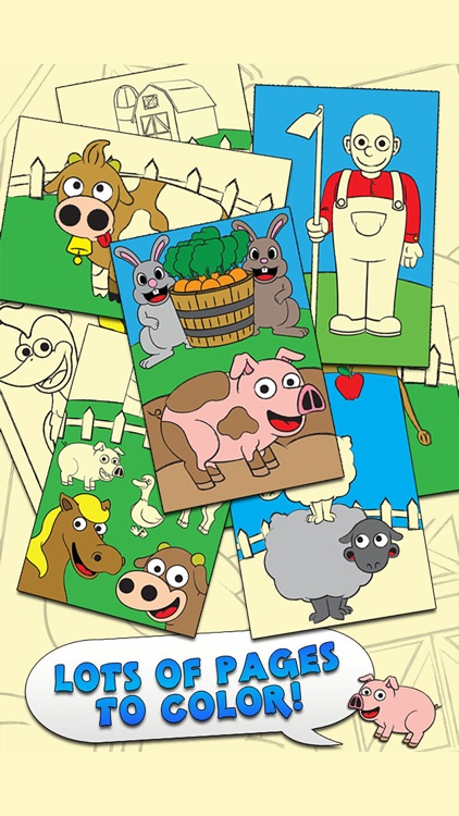 Coloring Farm Animal Coloring Book For Kids Games screenshot-0