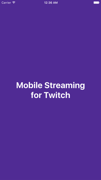 download Mobile Streaming for Twitch apps 0
