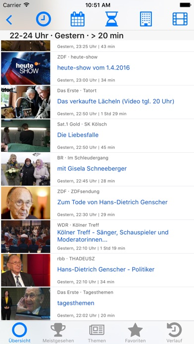 Fernsehsuche - German TV Screenshots