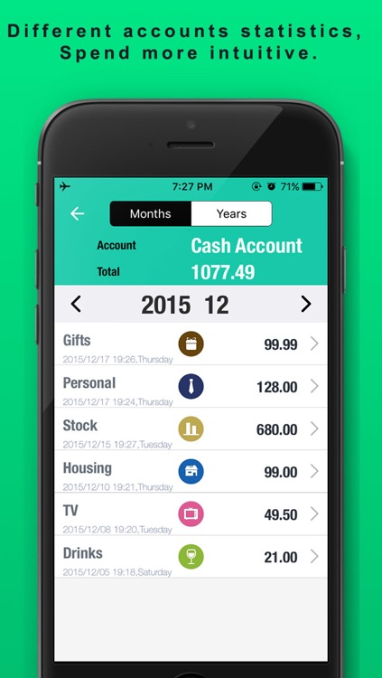 Spending Tracker SpendNext2 - Monthly Budget and expense planner with accounts checkbook screenshot-3