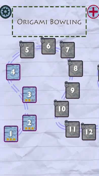 Origami Bowling screenshot two