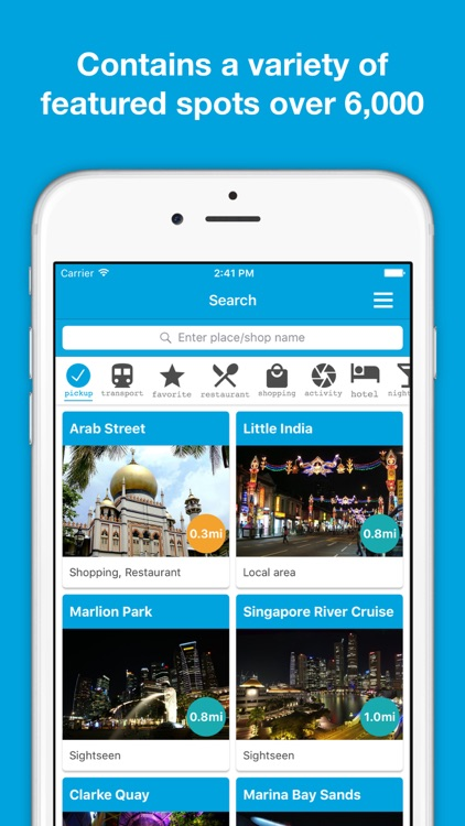 Singapore guide, Pilot - Completely supported offline use, Insanely simple