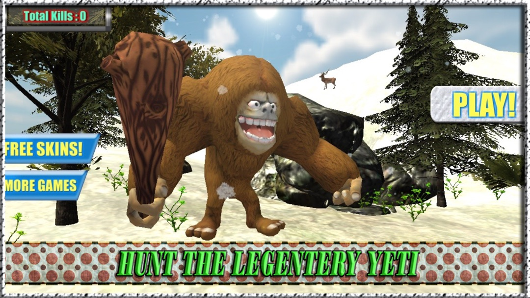 Yeti Hunter - Hunt Bigfoot, Sasquatch or the Yowie - Online Game