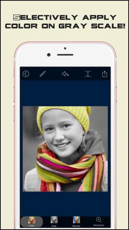 Photo Color Splash Effects Pro - Selective Recolor on black & white picture!