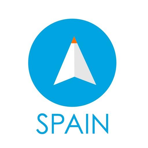 スペイン旅行者のためのガイドアプリ 距離と方向ナビのPilot(パイロット)