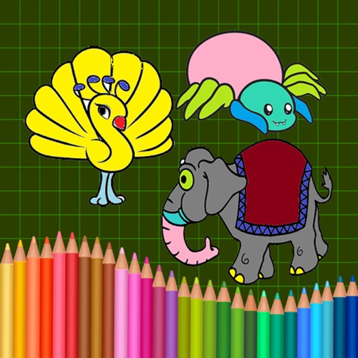 Animals & Birds Coloring Drawing book For Toddler & Preschool