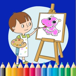 Baby Animal Cute Paint and Coloring Book - Free Games For Kids