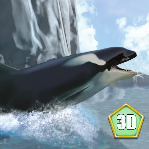 Orca Killer Whale Survival Simulator 3D Full - Play as orca, big ocean predator! icon