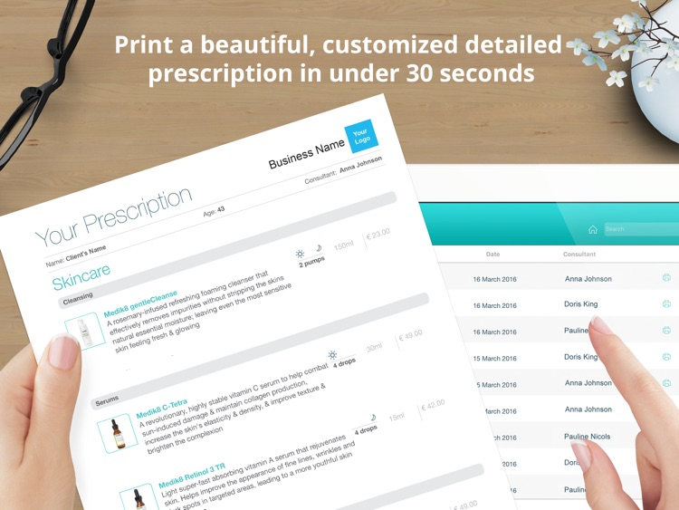 Spascribe - skincare prescription pad with eCommerce integration for aesthetics clinics, spas, beauty salons & cosmetics shops