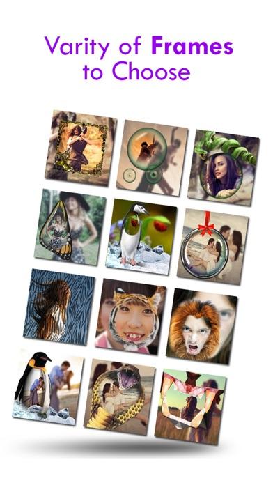 Schönheit der Brute-Kamera - Free Photo Collage Maker mit besonderen wilden Rahmen für InstagramScreenshot von 1