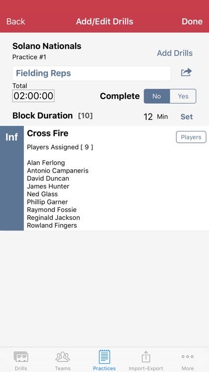Big Time Coach - Practice Planner - Baseball screenshot-3