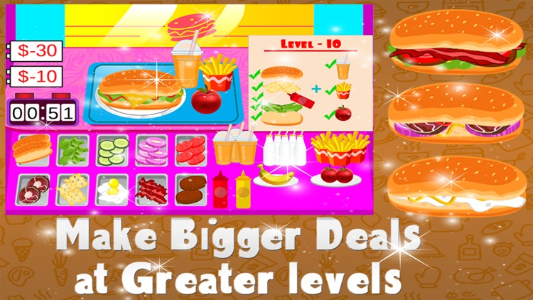 Fast Sandwiches Maker – Crazy cooking & chef mania game for kids