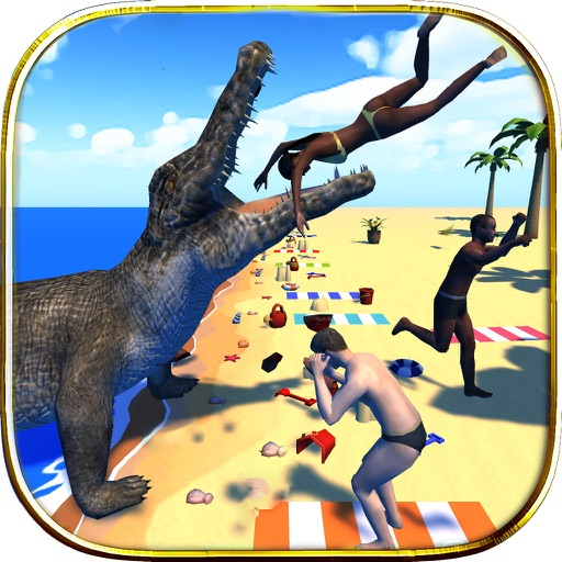 Crocodile Sim Beach Hunt