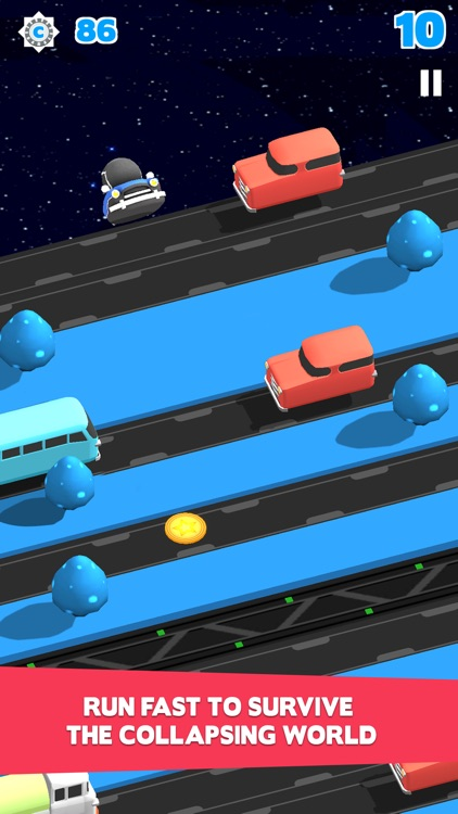 Bring Me Home-Endless Road Crossing with Hopper Hovercraft