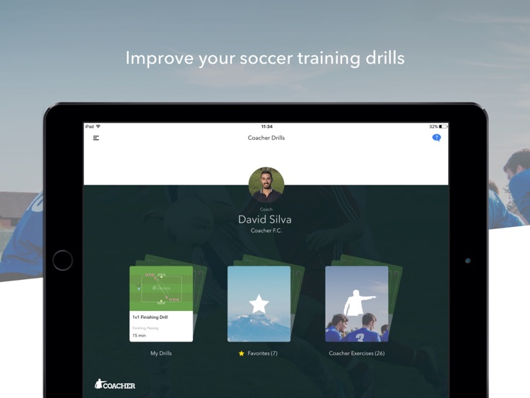 Coacher Drills - Improve your soccer training drills