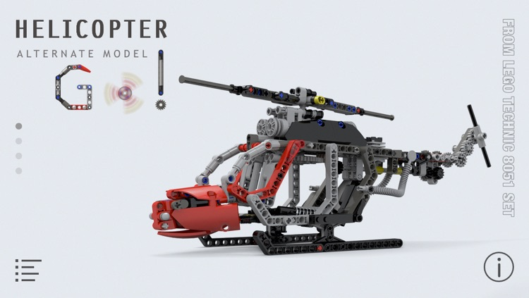 Helicopter For Lego Technic 8051 Set Building Instructions By