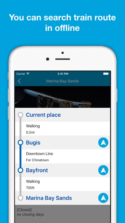 Singapore guide, Pilot - Completely supported offline use, Insanely simple screenshot-3