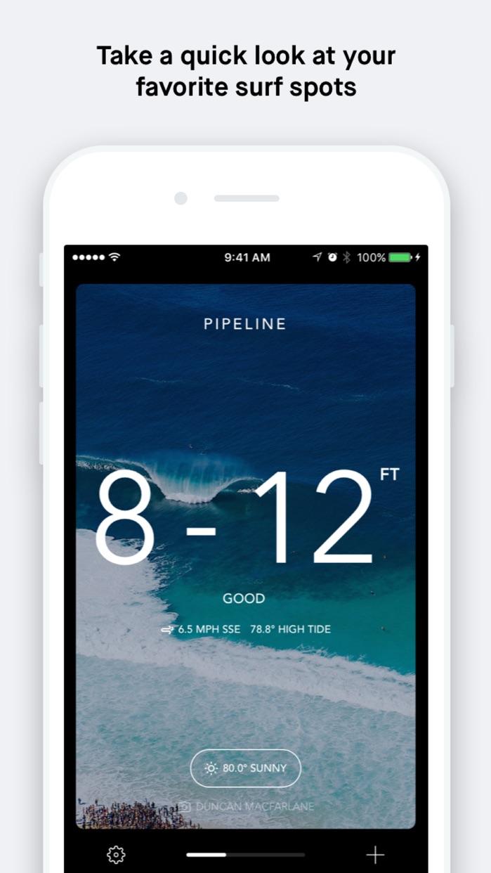 Billabong Surf Report Screenshot