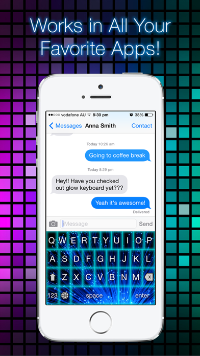 Glow Keyboard FREE - Customize & Theme Your Keyboards screenshot