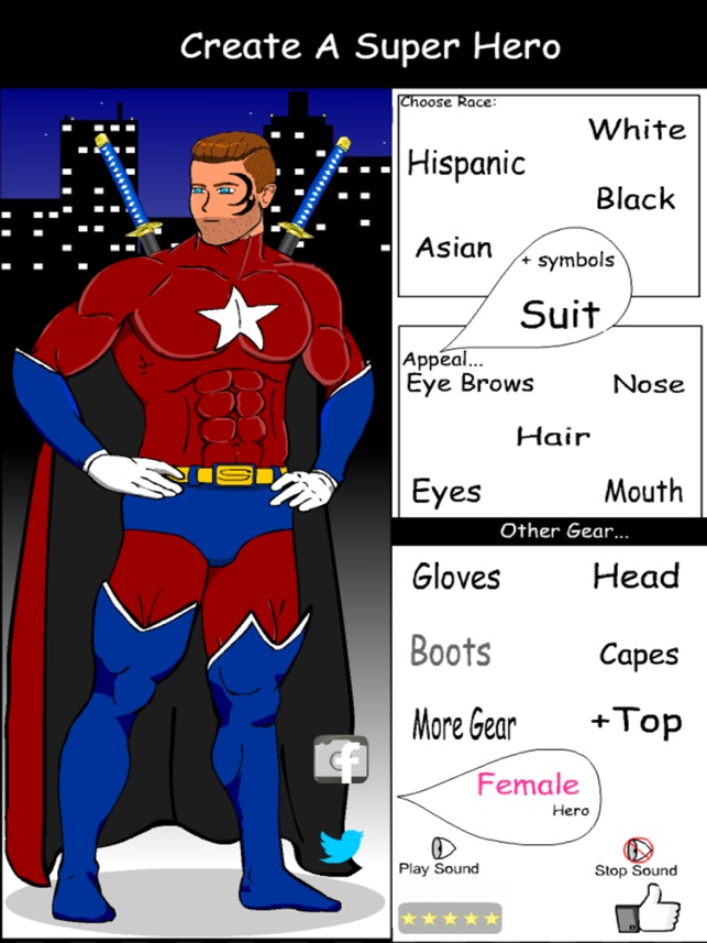 Create A Superhero on the App Store  sc 1 st  iTunes - Apple & Create A Superhero on the App Store