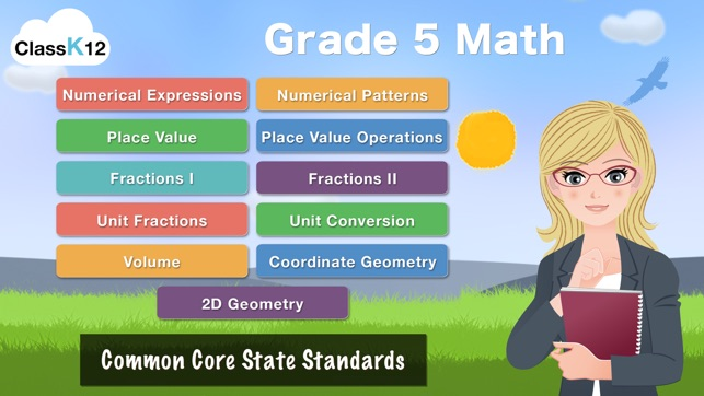 Grade 5 Math mon Core Learning Worksheets Game on the App Store