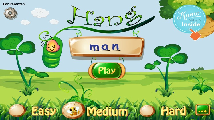 Spelling Bug Hangman Lite- Word Game for kids to learn spelling with phonics screenshot-0