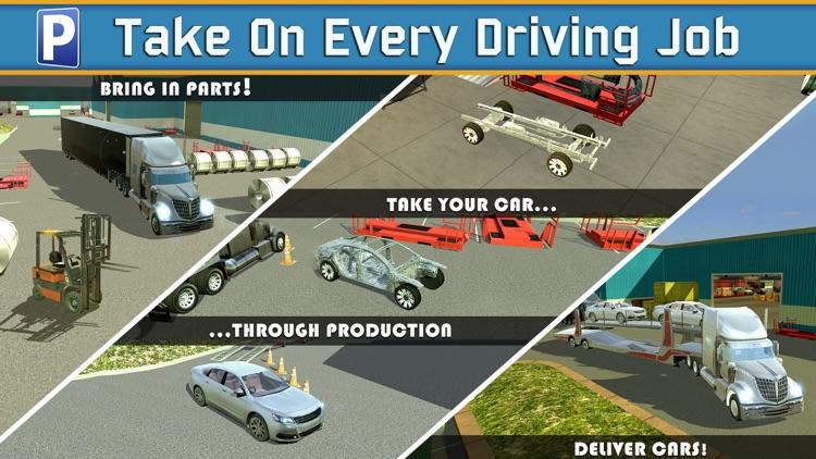 Car Factory Parking Simulator a Real Garage Repair Shop Racing Game